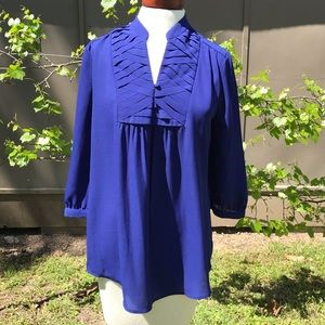 41 Hawthorn Blouse Royal Blue 3/4 Sleeve